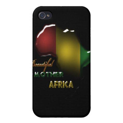 Caja de la mota de África Iphone 4 iPhone 4/4S Fundas