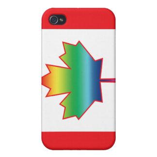 Caja de la mota de Canadá de la hoja de arce del a iPhone 4 Coberturas