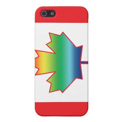 Caja de la mota de Canadá de la hoja de arce del a iPhone 5 Cárcasas