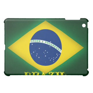 Caja de la mota de Ipad de la bandera del Brasil