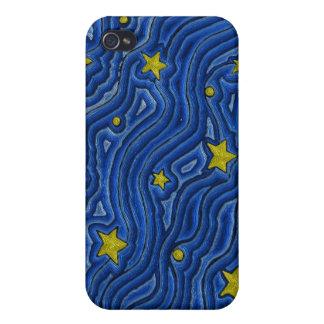 Caja de la mota de IPhone 4/4S del cielo nocturno iPhone 4 Carcasa