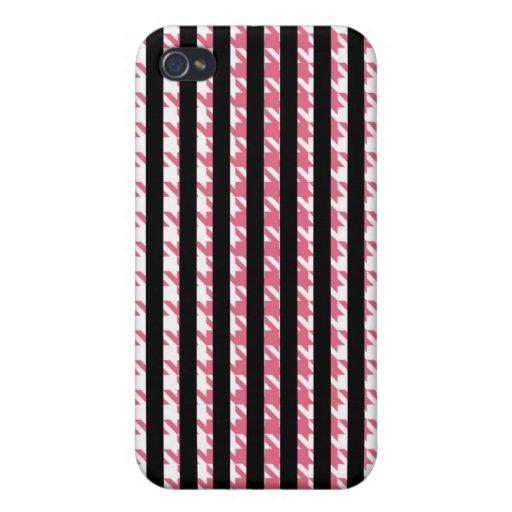 Caja de la mota de IPhone 4 de las rayas iPhone 4 Fundas