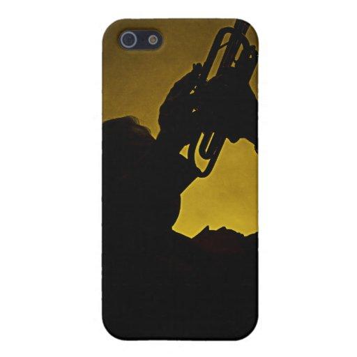 Caja de la mota de Iphone de la trompeta o del cuc iPhone 5 Carcasas