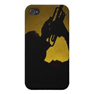 Caja de la mota de Iphone de la trompeta o del cuc iPhone 4 Cárcasa