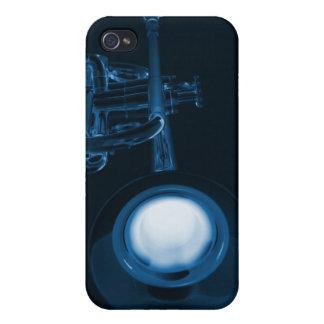 Caja de la mota de Iphone de la trompeta o del cuc iPhone 4 Cárcasas