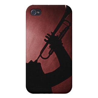 Caja de la mota de Iphone del chica de la trompeta iPhone 4 Protectores