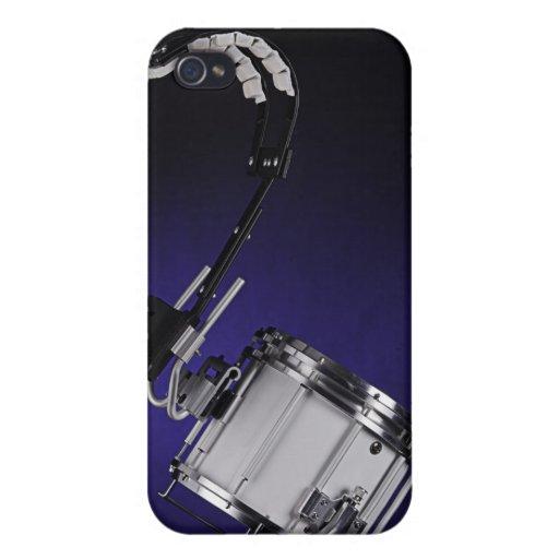 Caja de la mota de Iphone del tambor que marcha iPhone 4/4S Fundas