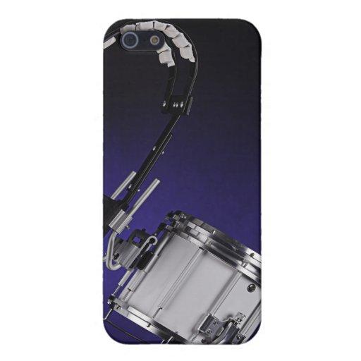 Caja de la mota de Iphone del tambor que marcha iPhone 5 Cárcasas