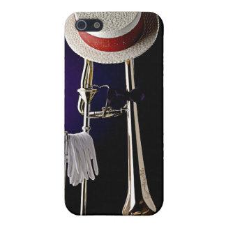 Caja de la mota de Iphone del Trombone de Dixielan iPhone 5 Carcasas