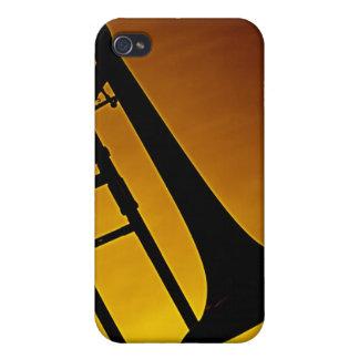 Caja de la mota de Iphone del Trombone iPhone 4 Carcasa