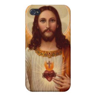 Caja de la mota de Jesús iPhone 4 Fundas