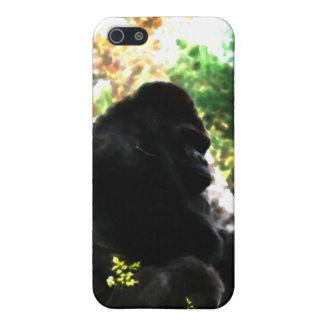 Caja de la mota de la acuarela del gorila iPhone 5 protector