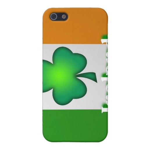Caja de la mota de la bandera de Irlanda iPhone 5 Funda