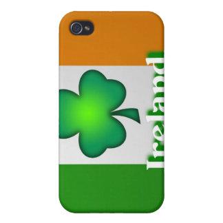 Caja de la mota de la bandera de Irlanda iPhone 4/4S Fundas