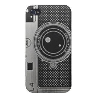 caja de la mota de la cámara iPhone 4 carcasas