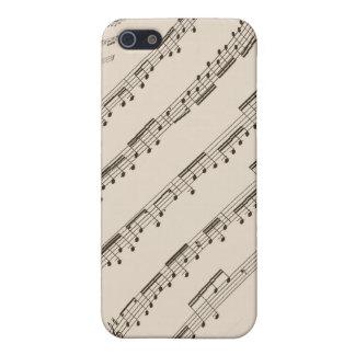 Caja de la mota de la cuenta de la música para el  iPhone 5 fundas