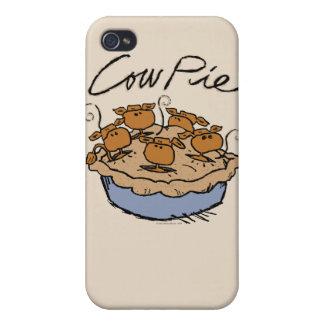 Caja de la mota de la empanada de la vaca iPhone 4 cobertura