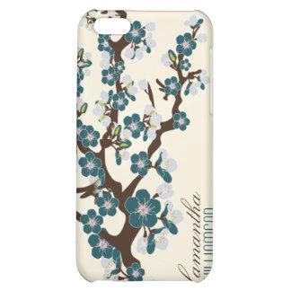 caja de la mota de la flor de cerezo del iPhone 4
