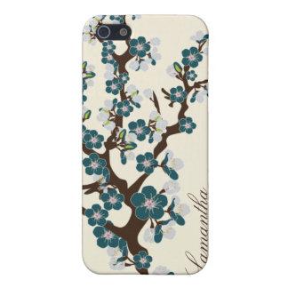 caja de la mota de la flor de cerezo del iPhone 4 iPhone 5 Carcasas