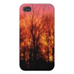 Caja de la mota de la foto de la salida del sol de iPhone 4/4S carcasas