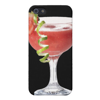 Caja de la mota de la fresa del daiquirí iPhone 5 protectores