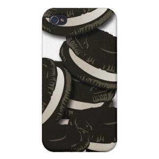 Caja de la mota de la galleta del bocadillo del iPhone 4 fundas