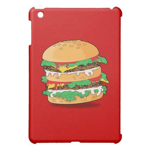 Caja de la mota de la hamburguesa del dibujo anima