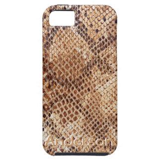 Caja de la mota de la impresión de la piel de serp iPhone 5 Case-Mate cárcasas