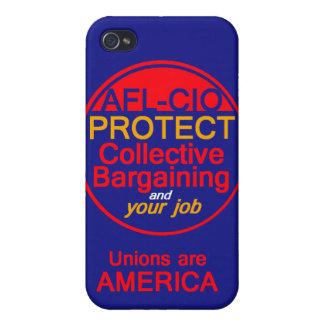 Caja de la mota de la negociación colectiva iPhone 4/4S carcasas