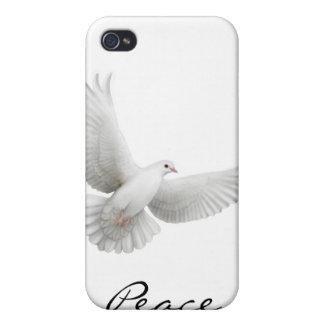 Caja de la mota de la paloma de la paz iPhone 4/4S carcasas