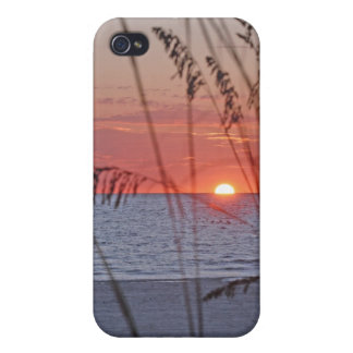 Caja de la mota de la puesta del sol de la isla de iPhone 4 coberturas