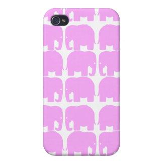 Caja de la mota de la silueta de los elefantes ros iPhone 4 protector