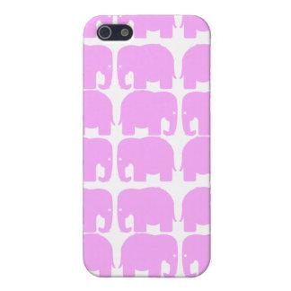 Caja de la mota de la silueta de los elefantes ros iPhone 5 fundas