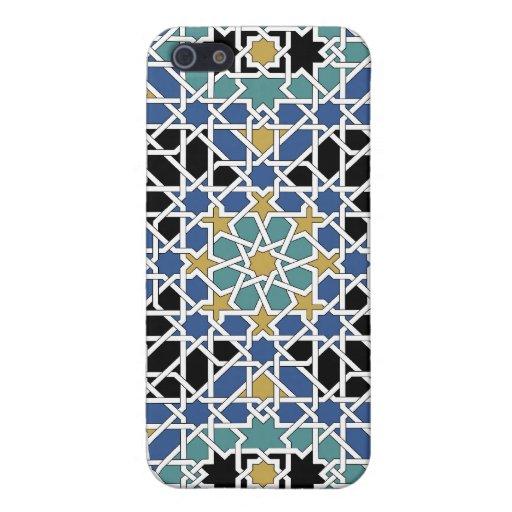 Caja de la mota de la teja del Moorish iPhone 5 Cárcasas