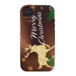 Caja de la mota de las Felices Navidad 15 iPhone 4 Funda