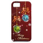Caja de la mota de las Felices Navidad 42 iPhone 5 Protector