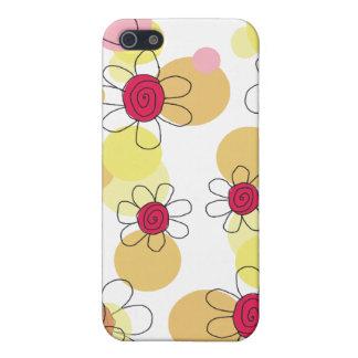Caja de la mota de las flores y de las burbujas de iPhone 5 fundas