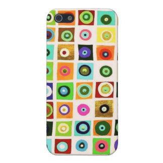 Caja de la mota de los círculos iPhone 5 coberturas