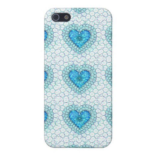 Caja de la mota de los corazones del cordón de la  iPhone 5 cárcasas