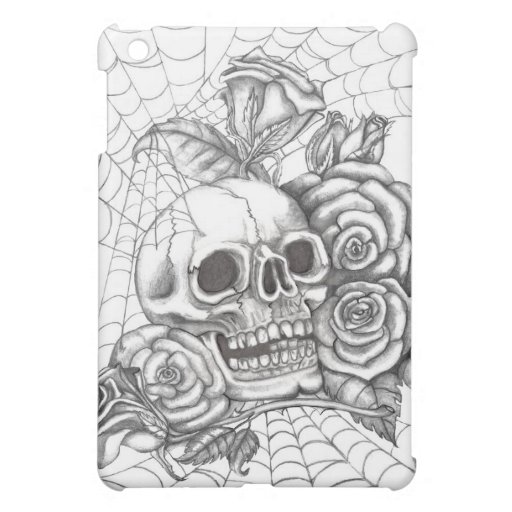 Caja de la mota de los rosas del cráneo N