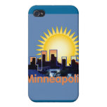 Caja de la mota de Minneapolis iPhone 4 Protector