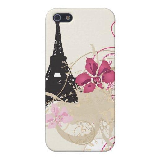 Caja de la mota de París iPhone 5 Fundas