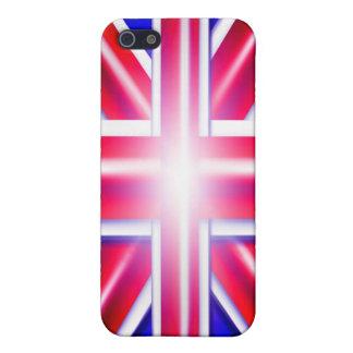 Caja de la mota de Union Jack Iphone 4/4S iPhone 5 Carcasas