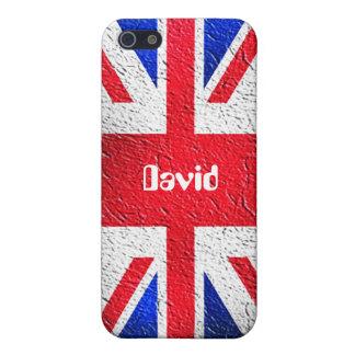Caja de la mota de Union Jack Iphone 4/4S iPhone 5 Funda