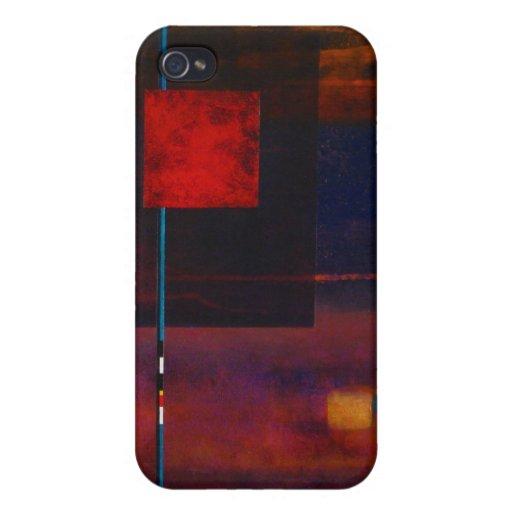 Caja de la mota del amante del arte iPhone 4/4S carcasa
