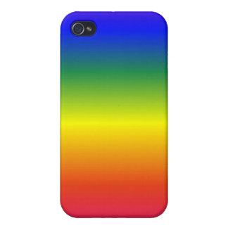 Caja de la mota del arco iris iPhone 4/4S carcasa