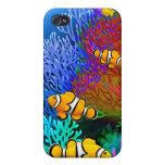 Caja de la mota del arrecife de coral de los pesca iPhone 4 carcasa