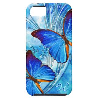 Caja de la mota del arte 37 de la mariposa funda para iPhone 5 tough