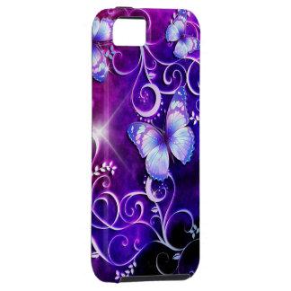 Caja de la mota del arte 3 de la mariposa iPhone 5 funda