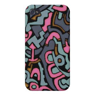 Caja de la mota del arte pop iPhone 4 protectores